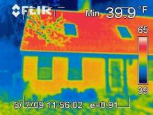 Image of house under infrared