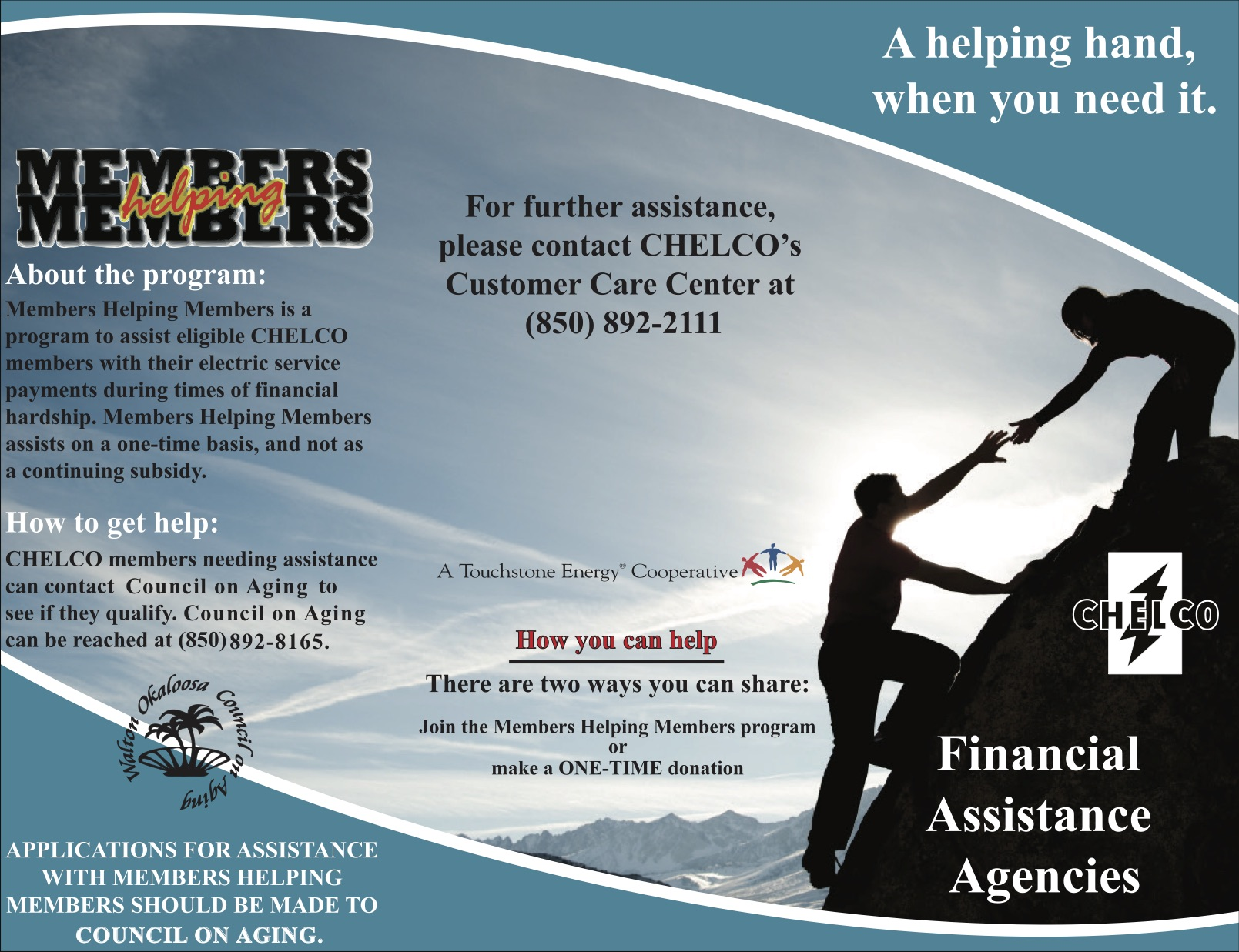 Image of brochure with local agency contact information.